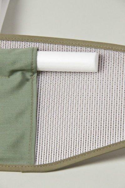 画像1: べっぴん帯板 裏ワザ芯棒入りポケット&ベルト付き(大)