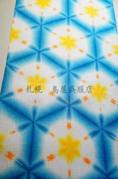 画像1: 藤井絞:雪花絞り(トロピカル/ブルー) (1)
