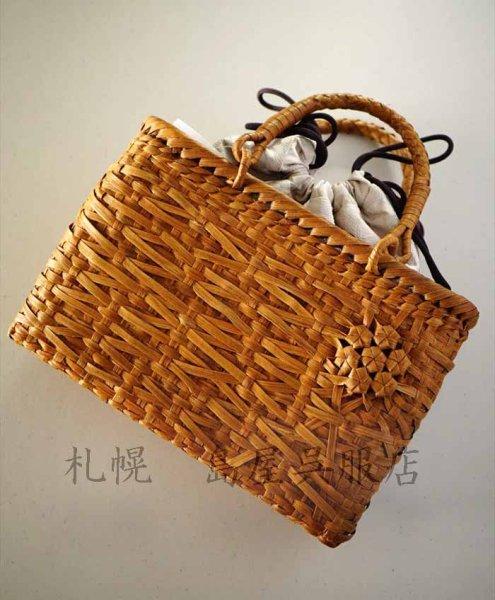 画像1: 女性用バッグ:山ぶどう籠バッグ (1)