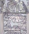 画像1: 九寸名古屋帯:hibaco モンステラ(ホワイト) (1)